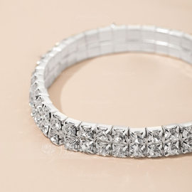 Beautiful Alloy With Crystal Bracelets (011035925)