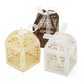 Beautiful Favor Boxes With Ribbons (Set of 12) (050055108)