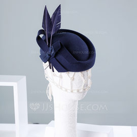 Ladies' Beautiful/Special/Elegant Wool With Feather Beret Hats (196189103)