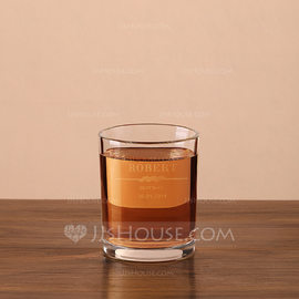 Groomsmen Gifts - Personalized Modern Glass Whisky Glass (258184529)