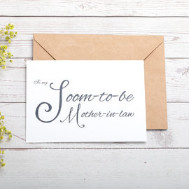 Groom Gifts - Elegant Card Paper Wedding Day Card (257184621)