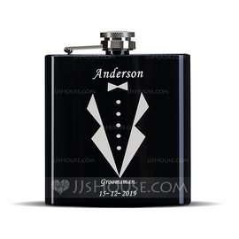 Groomsmen Gifts - Personalized Classic Stainless Steel Flask (258176300)