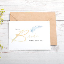 Bride Gifts - Classic Paper Wedding Day Card (255184432)