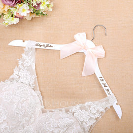 Bride Gifts - Personalized Classic Wooden Hanger (255184453)