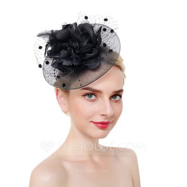 Ladies' Eye-catching/Pretty/Fancy Net Yarn With Feather Fascinators/Tea Party Hats (196186817)