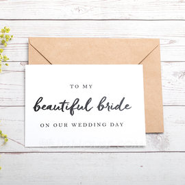Bride Gifts - Classic Paper Wedding Day Card (255184427)