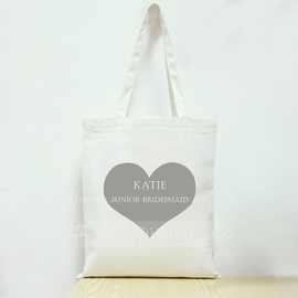 Bridesmaid Gifts - Personalized Canvas Style Cotton Tote Bag (256179090)