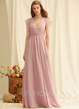 V-Neck Sleeveless Maxi Dresses (293250229)