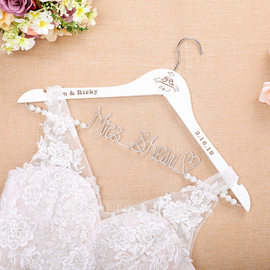 Bride Gifts - Personalized Beautiful Wooden Hanger (255184447)
