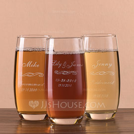 Bridesmaid Gifts - Personalized Glass Glassware and Barware (256184467)
