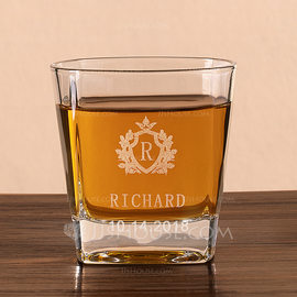 Groom Gifts - Personalized Elegant Glass Whisky Glass (257184590)