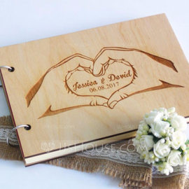 Personalized Wood Guestbook (101217041)