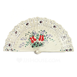 Butterfly Theme Sandalwood Hand fan (051040141)