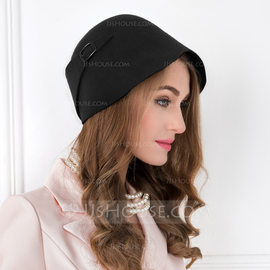 Ladies' Vintage Wool Bowler/Cloche Hat