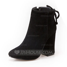 Women's Suede Stiletto Heel Boots Ankle Boots shoes (088098560)
