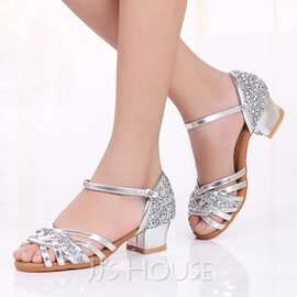 Women's Leatherette Sparkling Glitter Latin Dance Shoes (274177602)