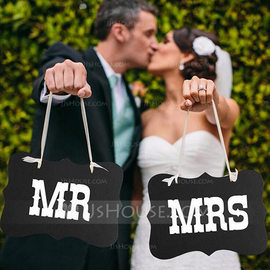 Bride Gifts - Elegant Wooden Photo Booth Prop (Set of 2) (255183502)