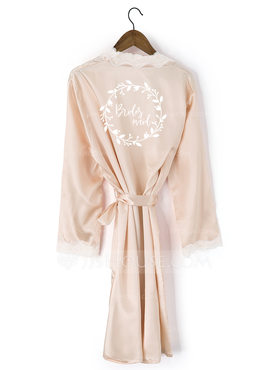 Personalized Lace Bride Bridesmaid Mom Junior Bridesmaid Lace Robes Embroidered Robes (248199970)