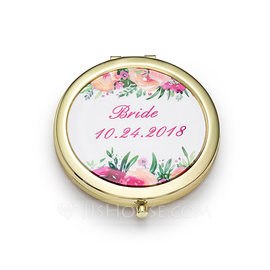 Bride Gifts - Personalized Cute Stainless Steel Compact Mirror (255184397)
