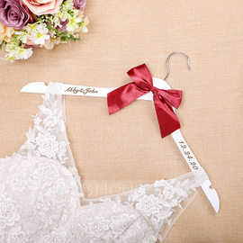 Bride Gifts - Personalized Classic Wooden Hanger (255184454)