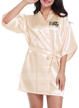 Personalized Charmeuse Bride Bridesmaid Embroidered Robes (248188905)