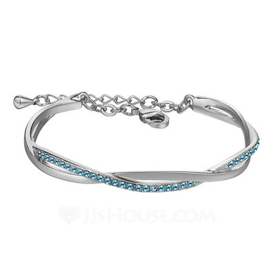 Elegant Alloy/Crystal Ladies' Bracelets