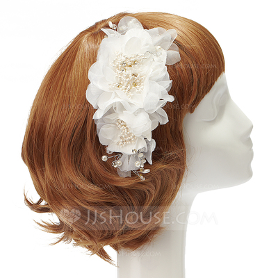 Beautiful Artificial Silk/Chiffon Flowers & Feathers