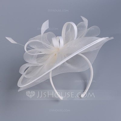 Dames Heerlijk Batist met Feather Fascinators/Kentucky Derby Hats