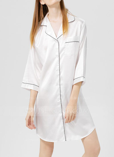 Modern/Contemporary Classic Geometric Polyester Robe