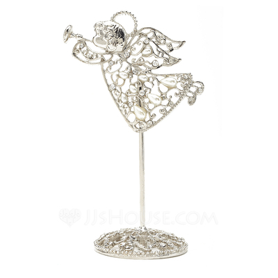 Angel Design Zinc Alloy Place Card Holders With Pearl
