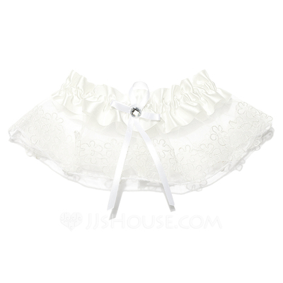 Gorgeous Lace With Ribbons Beading Wedding Garters