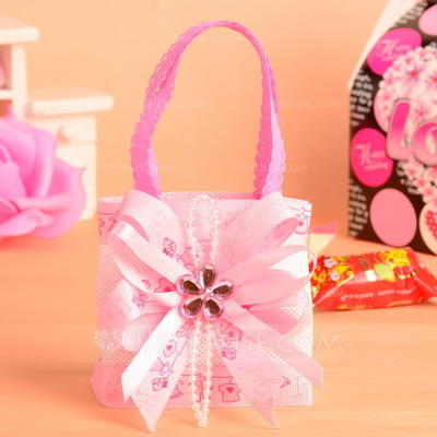 Sweet Love Handbag shaped Favor Bags With Ribbons (Set of 12)