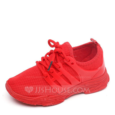 Unisex Closed Toe Mesh Flats Sneakers & Athletic With Lace-up