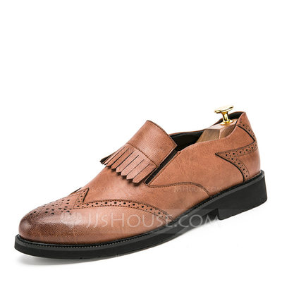 Men's Microfiber Leather Brogue Tassel Loafer Casual Men's Loafers