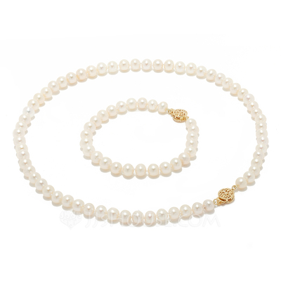 """Attractive Pearl/""""AAA"""" Pearl Ladies' Jewelry Sets"""