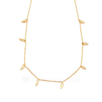 Christmas Gifts For Her - 18k Gold Plated Silver Pendant Necklace
