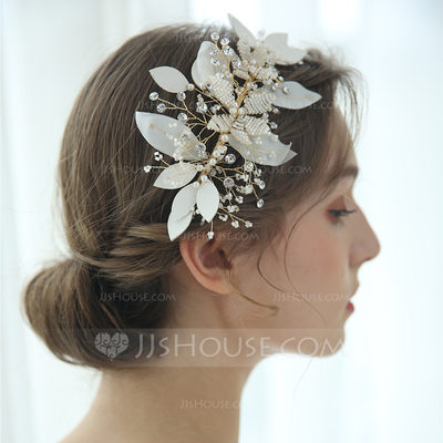 Ladies Glamourous Rhinestone/Voile Tiaras Rhinestone (Sold in single piece)