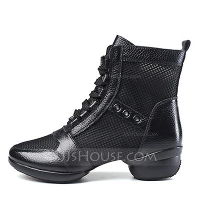 39044501363 Women's Real Leather Mesh Boots Modern Dance Boots Dance Shoes (053205046)