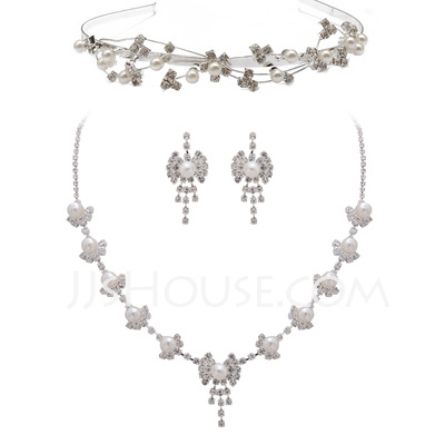 Alloy/Pearl With Rhinestone Ladies' Jewelry Sets