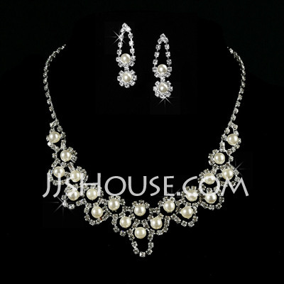 Elegant Alloy/Pearl With Crystal Ladies' Jewelry Sets