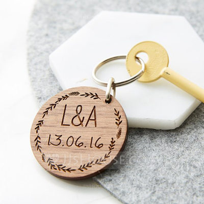 Personalized Wooden Keychains (Set of 10)