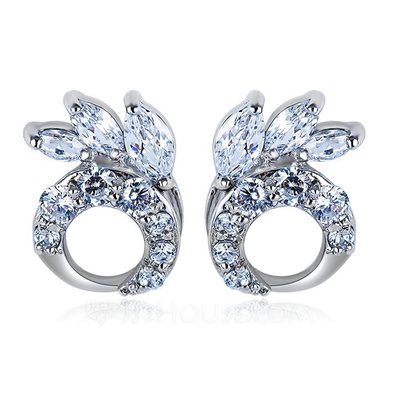 Exquisite Zircon/Platinum Plated Earrings