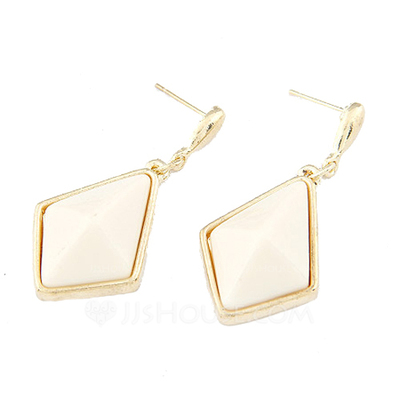 Fashion Alloy Resin Women's Earrings