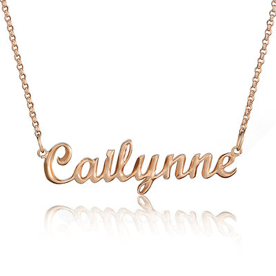[Free Shipping]Christmas Gifts For Her-Custom 18k Rose Gold Plated Silver Name Necklace