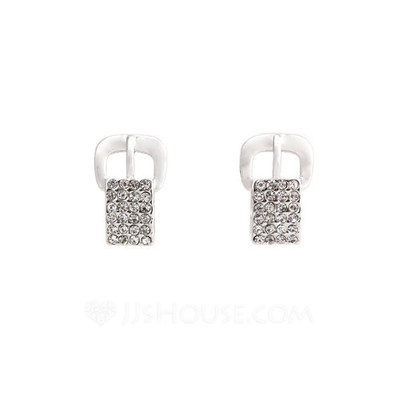 Exquisite Metal With Rhinestone Women's Fashion Earrings