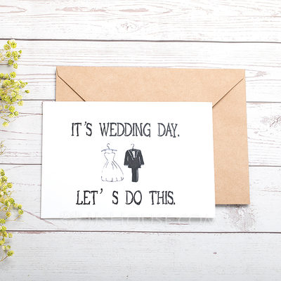 Bride Gifts Classic Paper Wedding Day Card 255184411