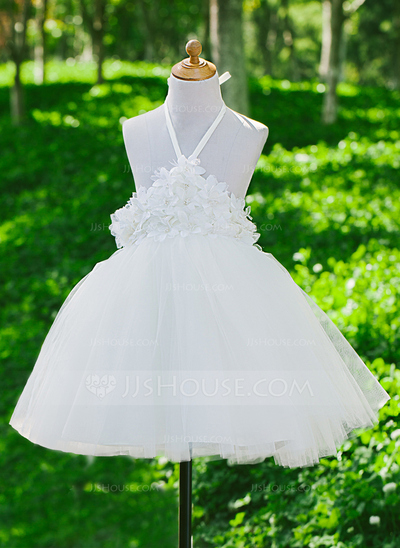Tulle/Satin With Flower Dresses