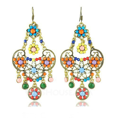 Lovely Alloy Resin Girls' Fashion Earrings