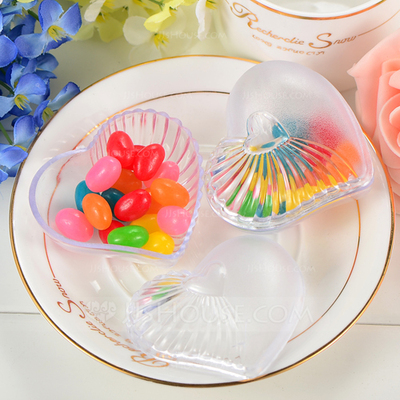 Translucent Heart-shaped Favor Boxes (Set of 12)