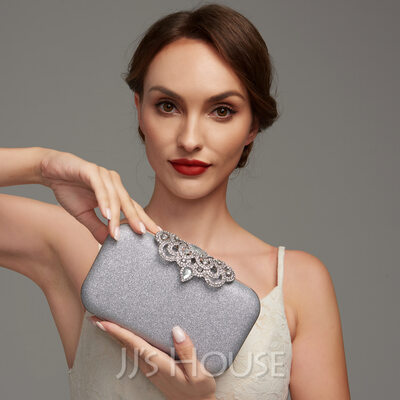 Elegant Alloy With Crystal/ Rhinestone/Glitter Clutches/Satchel/Top Handle Bags